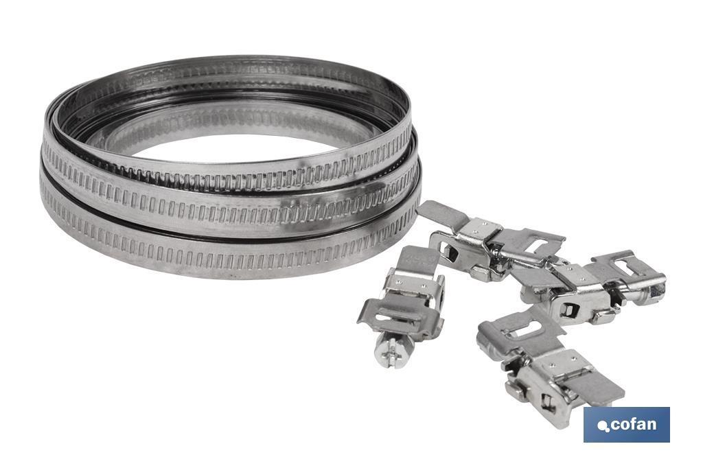 52 abrazaderas de acero inoxidable 304 en forma de R de 6 a 19 mm con forro de goma P clips acolchados aislados para tubo de manguera y cable de alambre