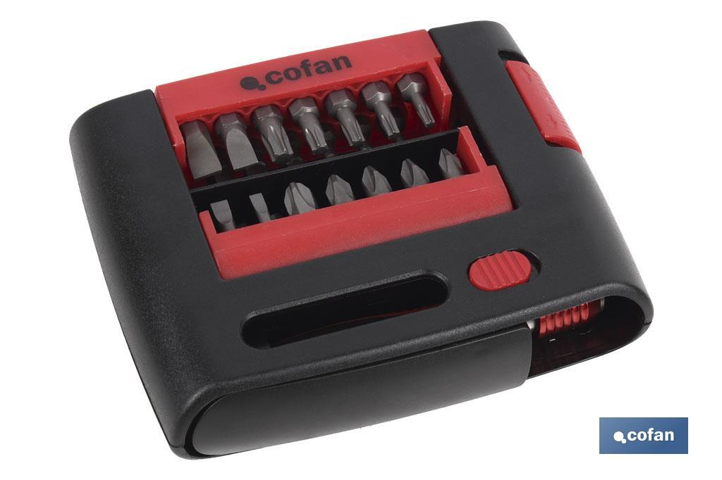 SET PUNTAS  PH, PZ, TORX, SL, HEX  (27 pcs.)