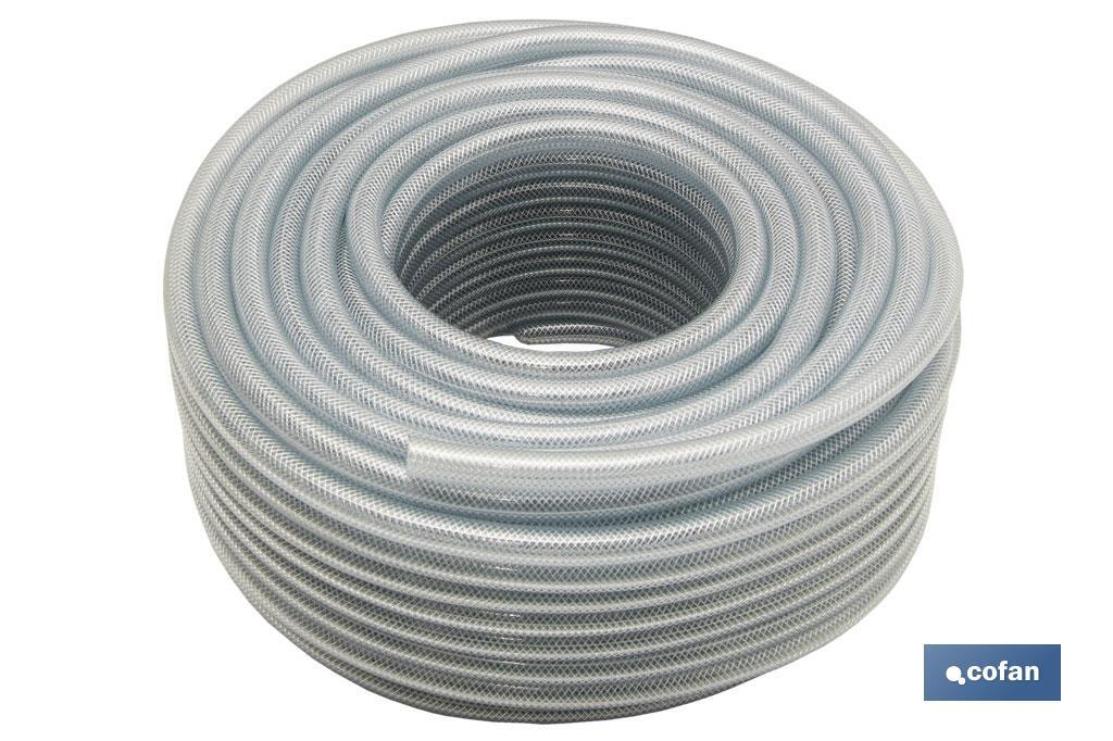 MANGUERA PVC CRISTAL CON REFUERZO